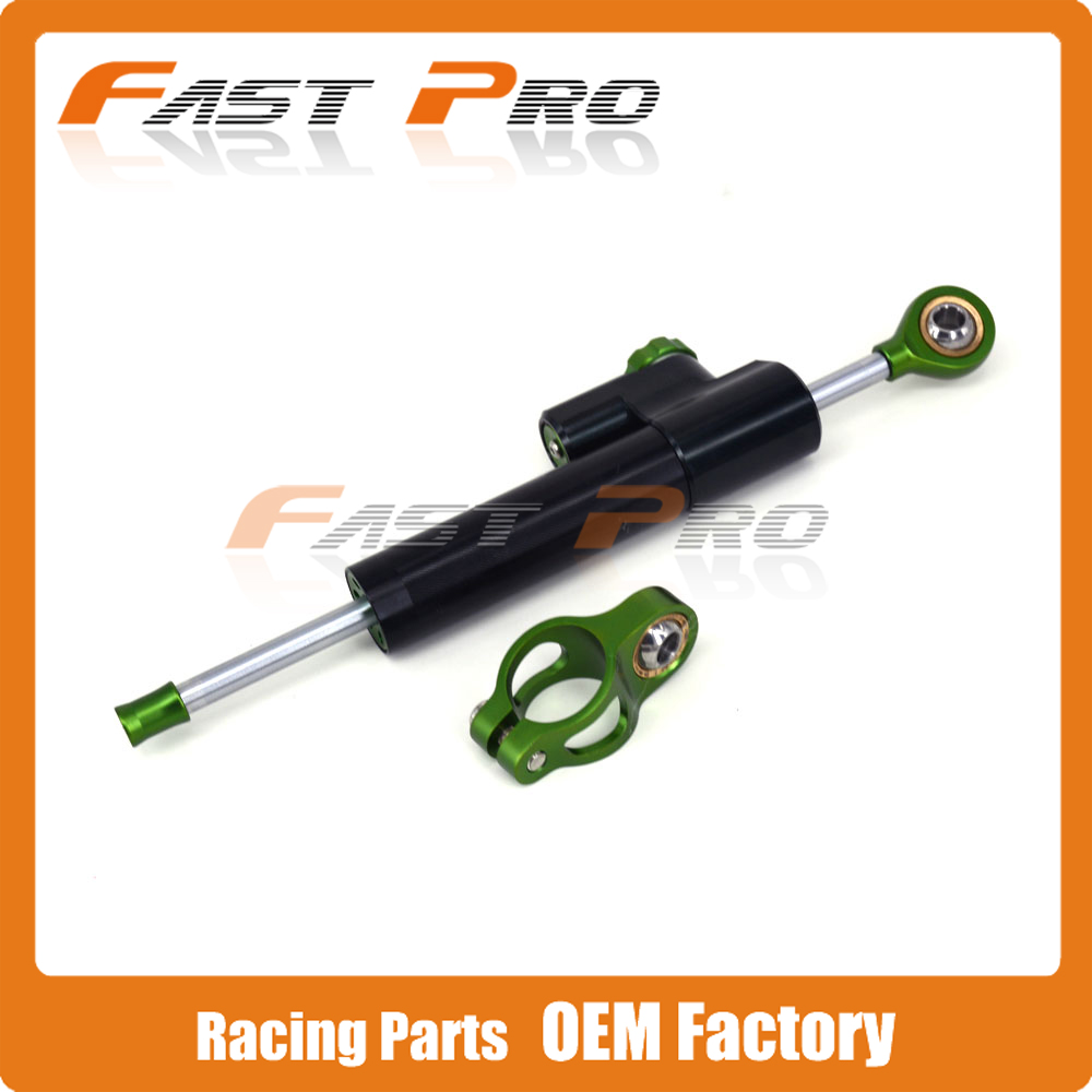 CNC Steering Damper Motorcycle Stabilizer Linear Reversed Safety Control For ER6N ER6F Ninja ZX750 ZX600 ZZR750 ZX7R ZX9R Z1000