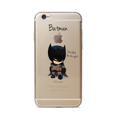 Cartoon Raytheon Batman  Phone Case For Apple Iphone 6 6s iron Man Captain America Spider
