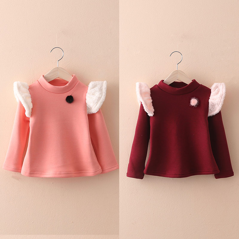लड़कियों के मखमली टी शर्ट - बच्चों के कपड़े