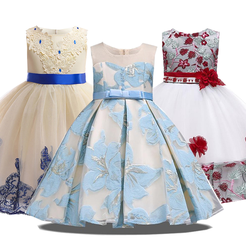 9487cf9d0 2019 fiesta de verano princesa vestido niña ropa traje de boda niños ...