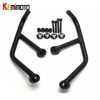 KEMiMOTO MT03 MT25 Engine Protetive Guard Crash Bar Protector For Yamaha MT 03 MT 25 MT 03 MT 25 Black 2015 2016 2017