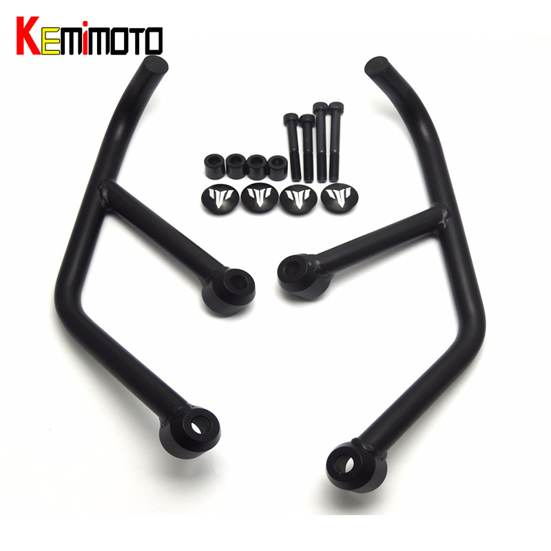 KEMiMOTO MT03 MT25 Motore Protetive Guard Crash Bar Protector Per Yamaha MT-03 MT-25 MT 03 MT 25 Nero 2015 2016 2017