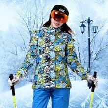 Winter Thermal Ski Women Snowboard Ski Hiking Jacket Ladies Skiwear Ski Jackets For Women Camping Ski Clothing Warm Snow Jacket