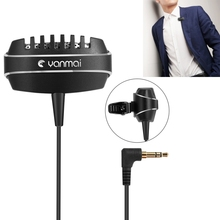 HAWEEL Recording Clip-on Lapel Mic Lavalier Omni-directional Dual Condenser Microphone Compatible with PC/iPad/Android for Show