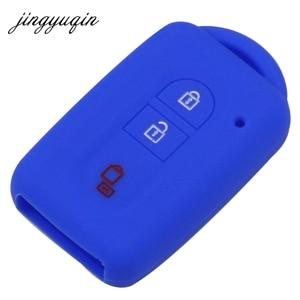 Image 3 - Jingyuqin chave do carro silicone fob caso capa pele proteger para nissan duke micra qashqai juke x trail navara remoto keyless
