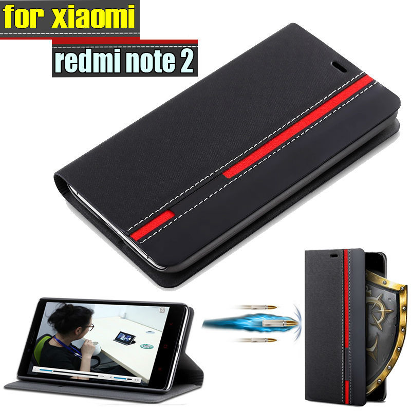 official photos 90c34 cd8d2 US $4.64 5% OFF|New for xiaomi redmi note 2 Case Ultra thin Leather flip  cover for xiaomi redmi note2 back cases Wallet Style Stand-in Flip Cases  from ...