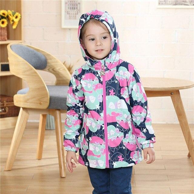 Непромокаемая ветрозащитная верхняя одежда для детей, куртки для маленьких девочек, Детское пальто, теплый флис для От 3 до 12 лет, весна-осень-зима