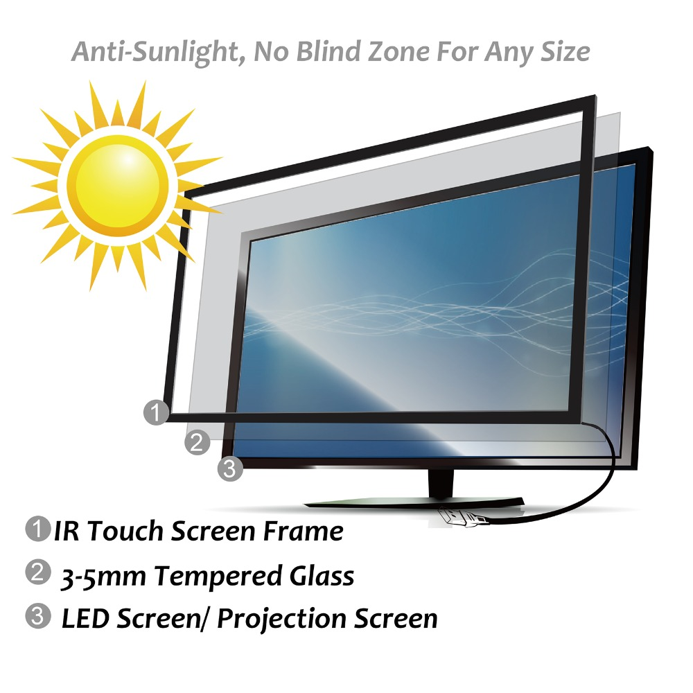 Free Shipping 2 point Touches 16:9 Ratio Quick response 40inch ...