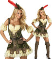 free shipping  Adult Womens Sexy Robin Hoodie Medieval Hood Fancy Dress Party Costume M XL