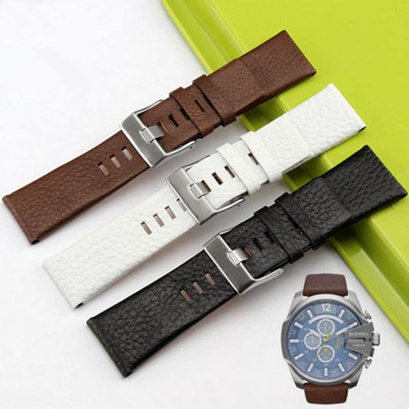 TJP Original 22mm 24mm 26mm 28mm 30mm Genuine leather Watch bands Strap For DZ7322 DZ1206 DZ1399 DZ1405 Replace DZ Bracelet цена