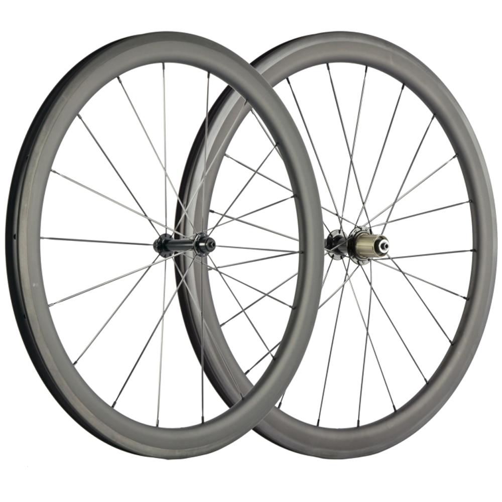 NEW MODEL 45mm depth Carbon Fiber Wheelset Clincher Road Carbon Wheels Bicycle 25mm U Shape Tubeless Cycle Wheels