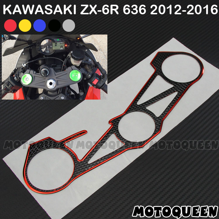 2019 New! Decal Stickers Pad Triple Tree Top Clamp Upper Front End Waterproof For Kawasaki ZX-6R ZX6R 636 12 13 14 15 2012-2016