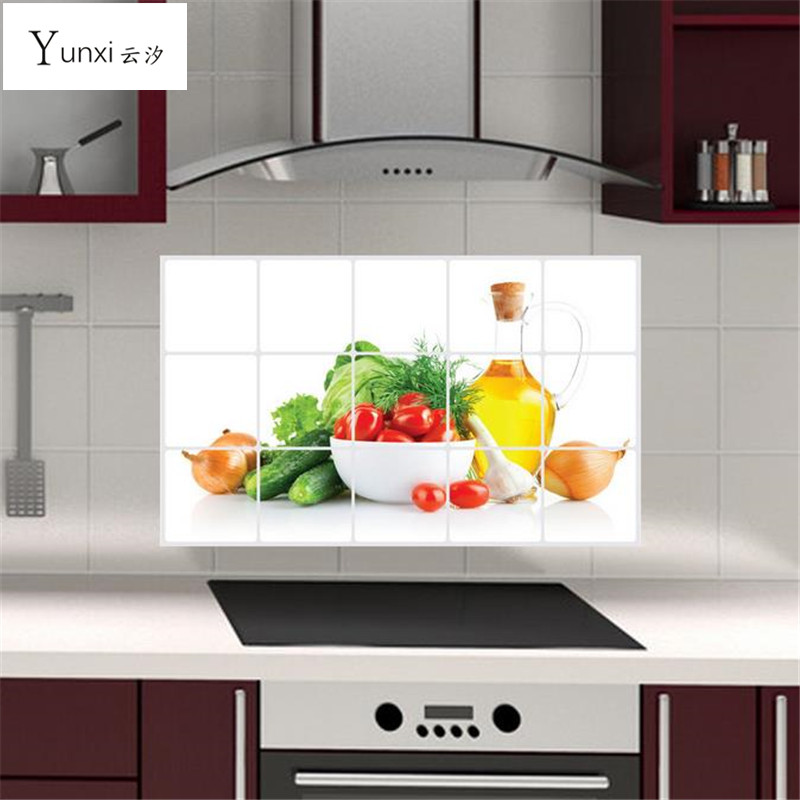 Yunxi 70 45cm kitchen wall stickers foil oil sticker decal for Snapdeal products home kitchen decorations