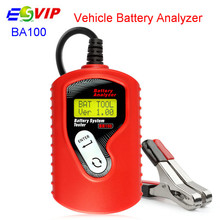 10pcs/DHL BA100 Vehicle 12v Digital Battery Tester for All Cars Data Analyzer with Multi-Language