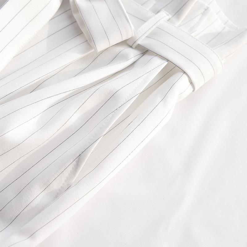 Rayé Arc Taille Femmes Dames Haute D'été Blanc Gros Pantalon En Mode D'origine 2018 Marque Casual Ol XznPBq