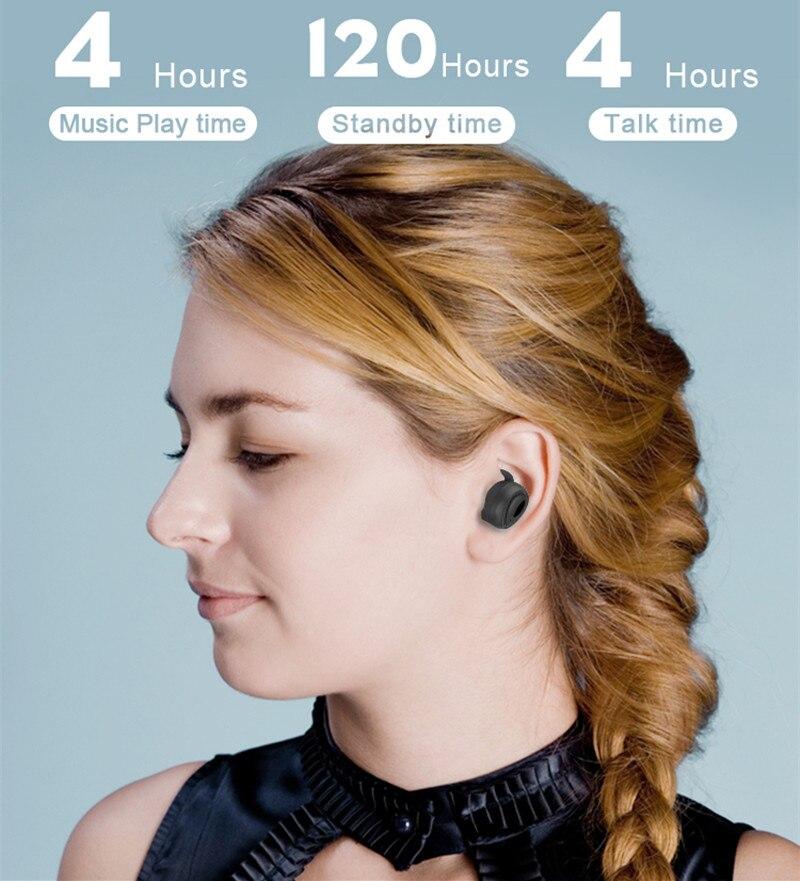 Nasin TWS Wireless Bluetooth 5.0 Earphone 3D Super Bass Sweatproof  headset Sports Earbuds Gaming Headset for iPhone xiaomi