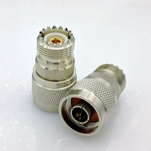 цена на SL16 UHF Female to N type Male M type to N type Coaxial RF Connector N-UHF RF Adapter 4pcs/lot