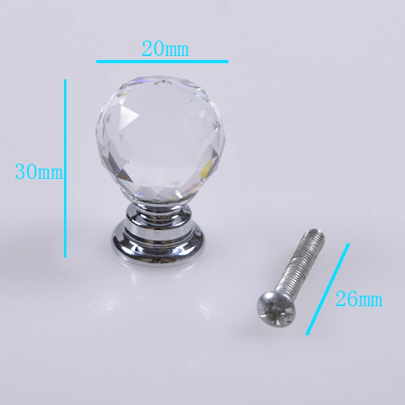 Wholesale Cabinet Handle Crystal Ball Knobs Furniture Drawer Cabinet 20mm Handles Knob