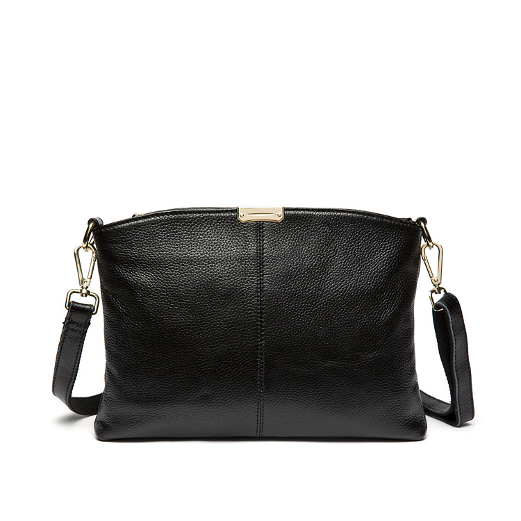 European and American Style Simple Cow Leather Women Bags 100% Genuine Leather Shoulder Crossbody Bag Ladies Bolsas Feminina