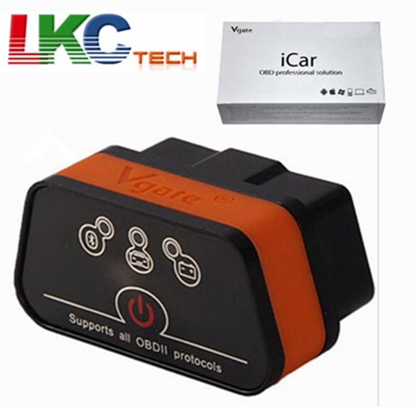 Vgate ICar2 ELM327 V2.1 OBD OBD2 Bluetooth/WIFI Scanner Diagnostic Tool WIFI Adapter ELM 327 V 2.1 OBDII iCar 2 II WIFI Scan vgate icar2 elm327 bluetooth obdii obd2 car diagnostic tool icar 2 elm 327 obd 2 ii scanner for android pc auto diagnostic tool
