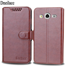 Dneilacc чехол люкс бумажник Стиль Флип Bling PU кожаный чехол для Samsung Galaxy Core 2 core2 g355h чехол для телефона