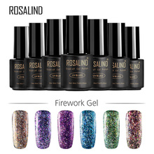 1 Bottle of UV Nail Gel Polish Glitter Nail Gel Polish Shining Long Lasting Nail Gel Nail Art Decoration Tool sample of the gel polish from cola