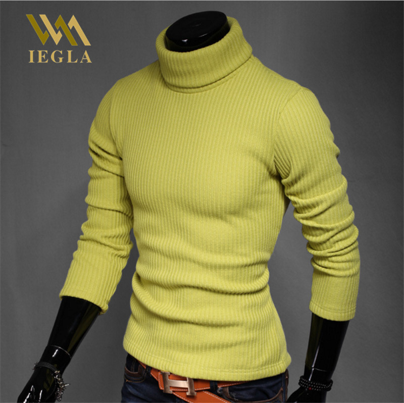 Men Sweater Pullover Warm Winter Male Brand Casual Sweaters Mens Solid Turtleneck Sweater Thicken Long Sleeve Pull Homme 7Colors