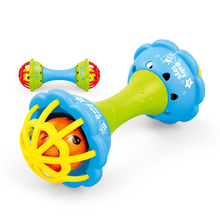 Baby Rattles Soft Rubber Dumbbell Ball Ring Pacify Tooth Early Teach Wisdom Hand Grab Infant Toys