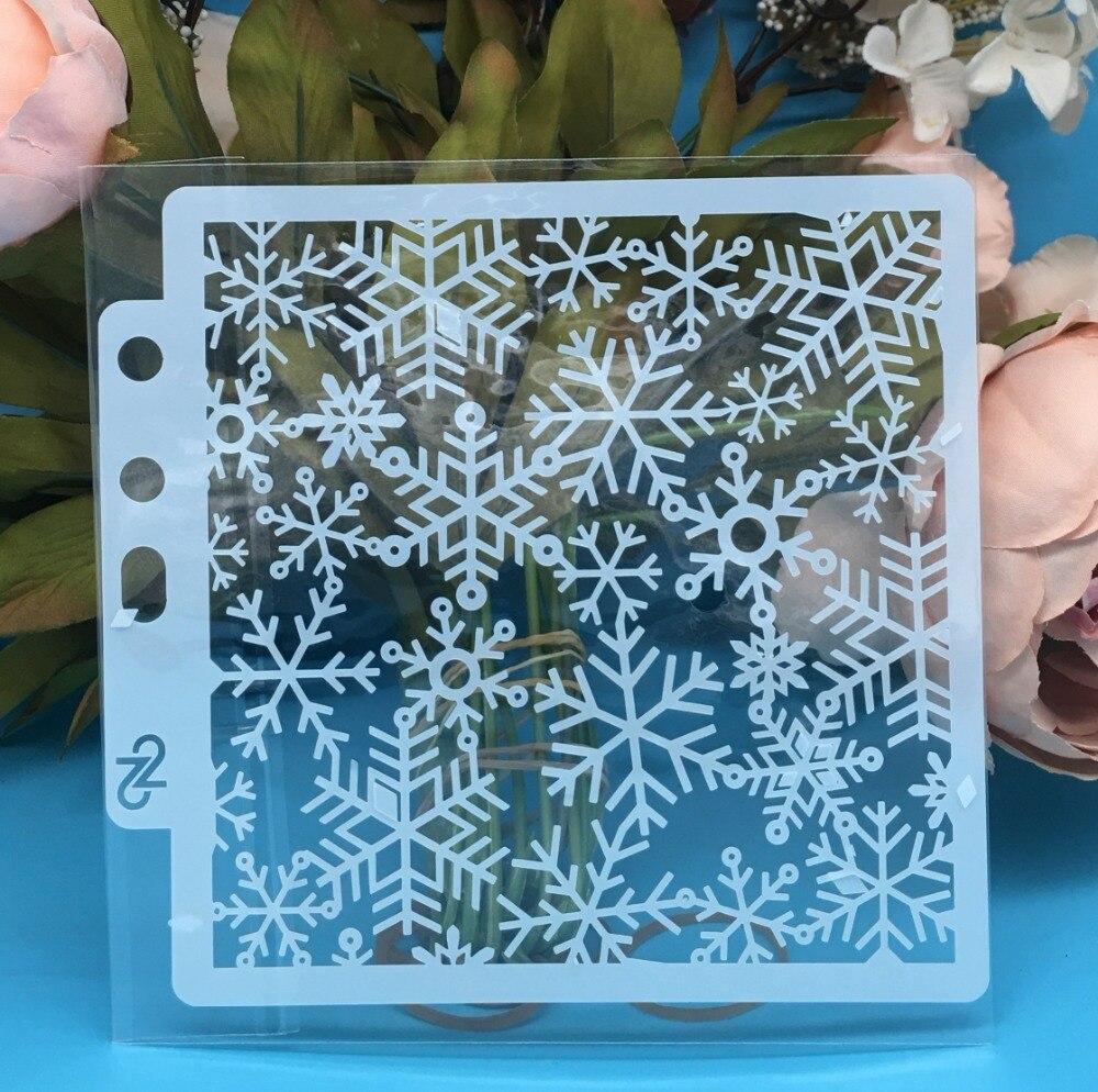 13cm New Snowflake DIY Layering Stencils Wall Painting Scrapbook Coloring Embossing Album Decorative Card Template