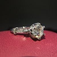 Calidad de moda de lujo 3 CT Carat aniversario de boda de compromiso mond dia Del Partido Del anillo de Hombre de plata regalo de Las Mujeres