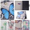 Nuevo Kindle 2016 lindo árbol de dibujos animados mariposa soporte Flip fundas de cuero funda para Amazon Kindle 8 generación 2016 6.0 tablets cubierta