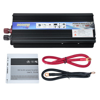 Car Power Inverter 2000W USB Adapter Converter DC 12V To AC 220V Car Power Inverter Supply