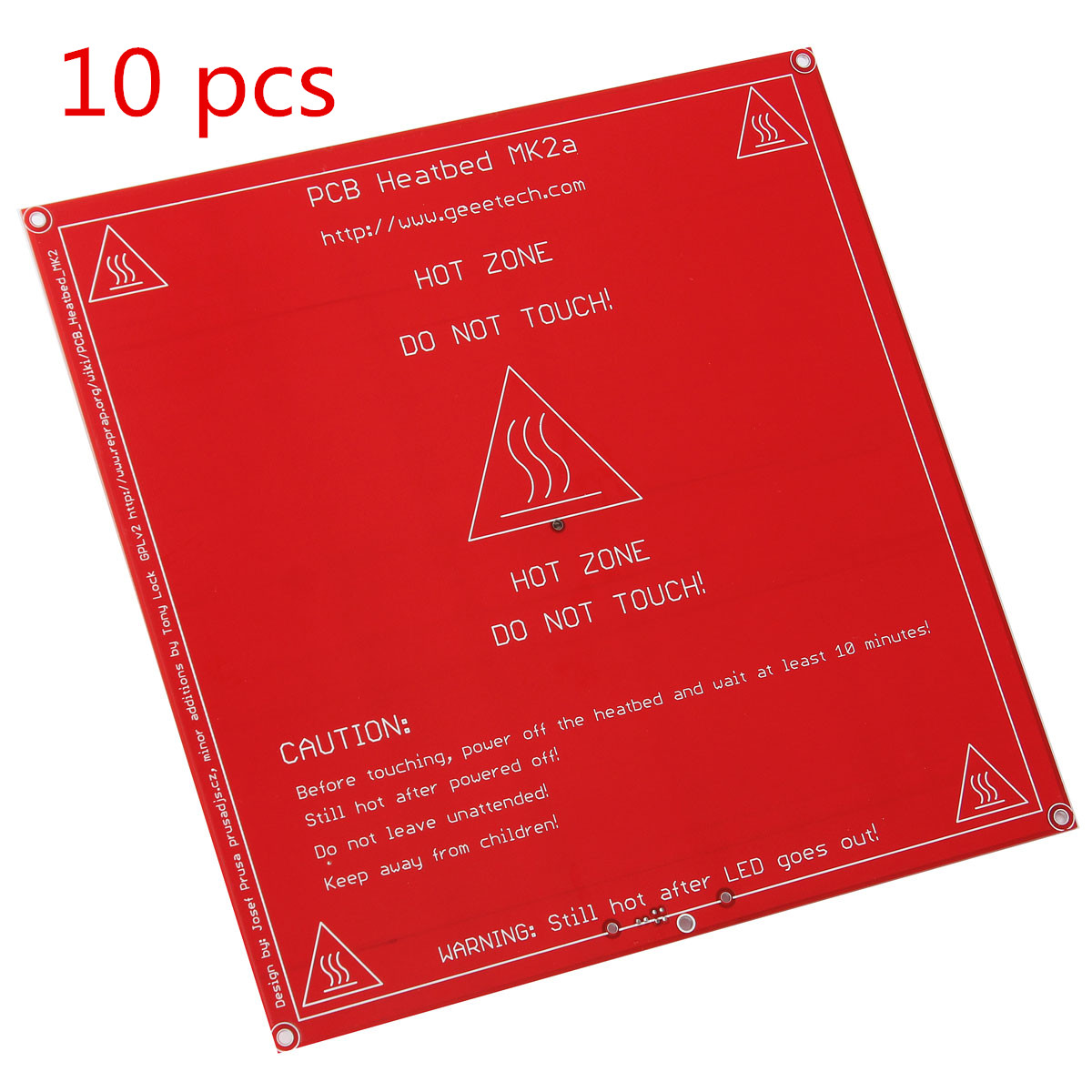 10PCS 3D Printer Support 12V 24V Red PCB Heated Heat bed heatbed MK2B Upgraded MK2A for Mendel for RepRap 10pcs 12v 24v red