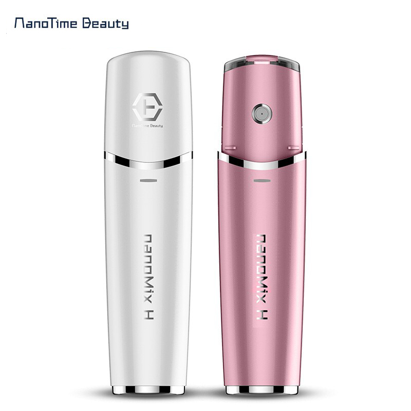 Skin Sprayer can used with mineral water ,essential watery toner Mini Portable Atomizer Facial Steamer Nano Mister Hydrating минерально вулканический тонер the skin house volcanic water mineral toner