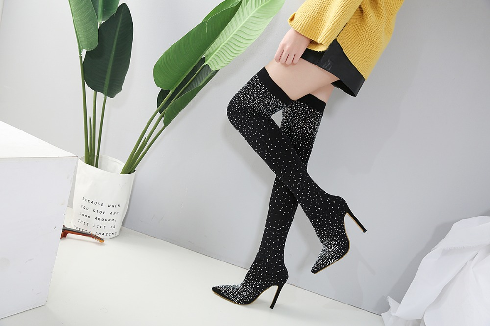 Specifications: Color:Black Size:35,36,37,38,39,40 Heel Height:12cm Platform Height:1cm You will receive a Chinese size Please look at the below size chart and compare with your foot length,if your foot fat or wide,please choose one size bigger than the normal size. if you still not sure,pls message us freely and we are very happy to help you to choose the correct size.