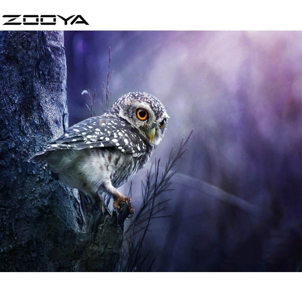 Zooya 5D DIY Алмазные картина С кристалалми и стразами вышивки крестом красивые Сова животных Вышивка украшения дома decorat R068