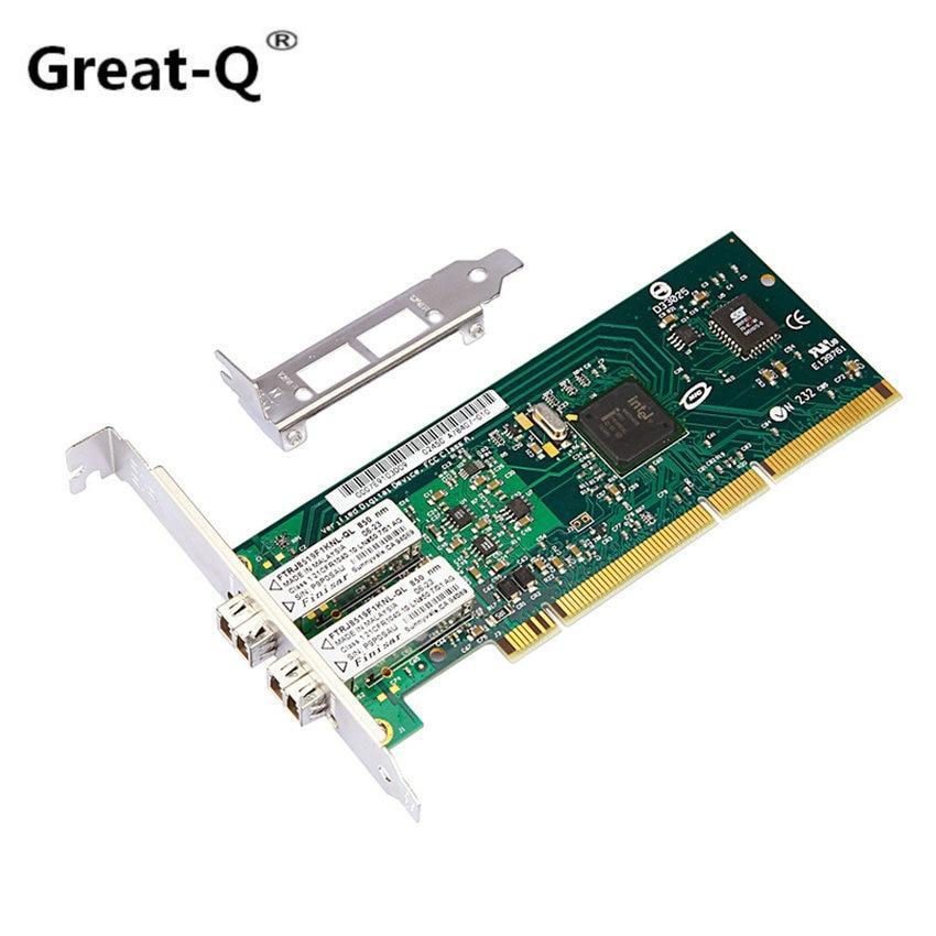Great Q PCI server lan card for Intel 82546GB/GB PWLA8492MF double Port Multi mode fiber 1000 Mbps network card
