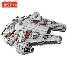 Conjunto de Star Wars Millennium Falcon Mini Modelo de Plástico Blocos de Construção Figura Tijolos de Brinquedo Crianças dom Compatível designer LegoING