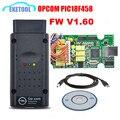 Profesional OPCOM Con Excelente PIC18F458 V1.60 Más Rancio Que V1.59/Software Del Escáner 2010.08 OP-COM V1.45 OP COM
