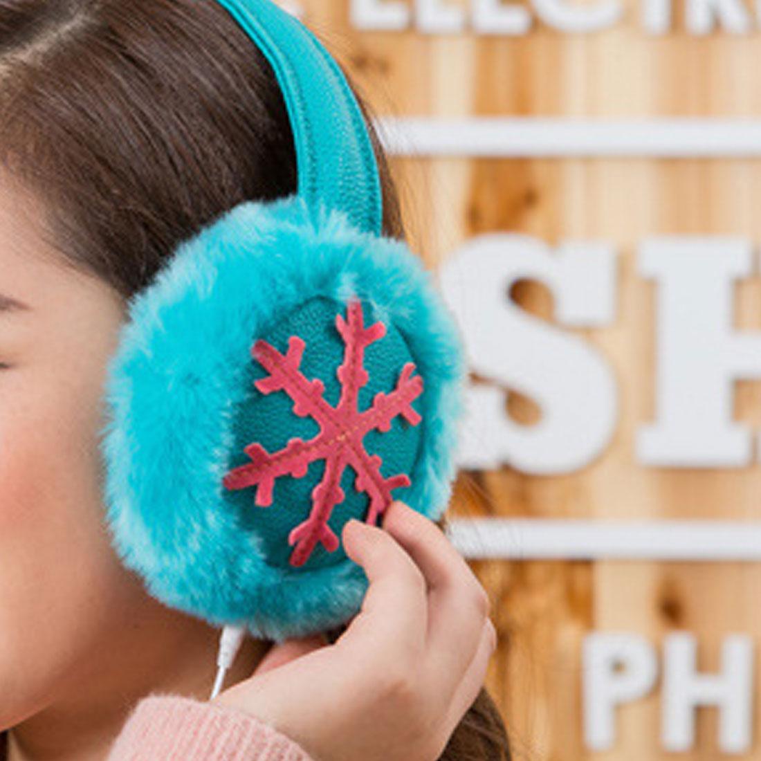 Confortable Femmes Mode D'hiver Musique Écouteurs Oreillettes Fourrure En Peluche Oreilles Chaudes Musique Écouteurs Protecteur Fourrure Chauffe