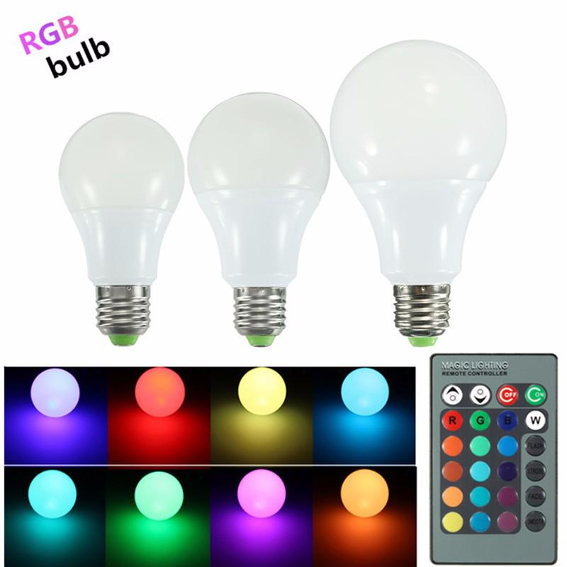 Litake RGB LED Light Bulb - Color Changing with Remote Control,3W-E27-A50