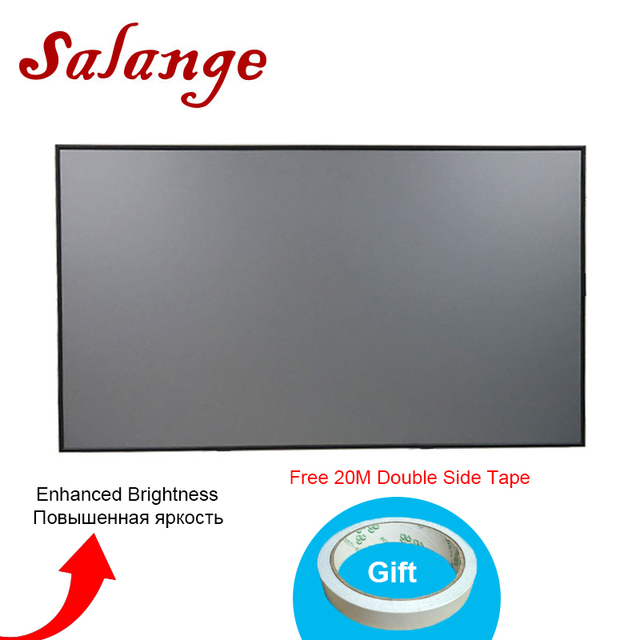Salange Reflective Fabric Projector Screen 60 72 100 120 inch 16:9 4:3 For XGIMI H2 Z6 UC46 UC40 YG400 JMGO Projector Proyector