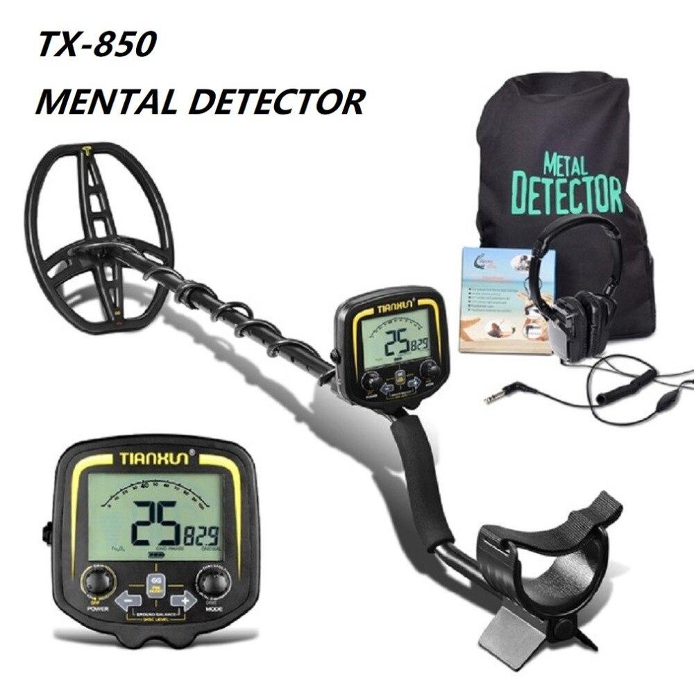 TX-850 Profondità Professionale Metal Detector Metropolitana Oro Scanner Finder Oro Detector Cacciatore di Tesori di Rilevamento Pinpointer Caldo