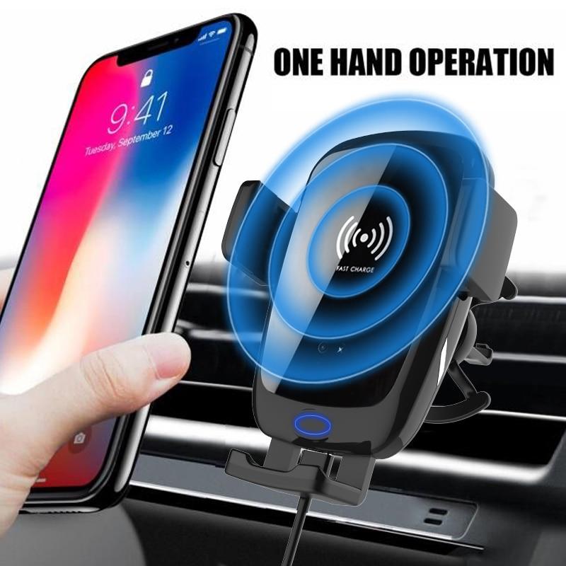 Lewoer voiture chargeur sans fil pour iPhone Xs Max X Samsung bobine Induction rapide sans fil charge voiture support pour téléphone prise d'air