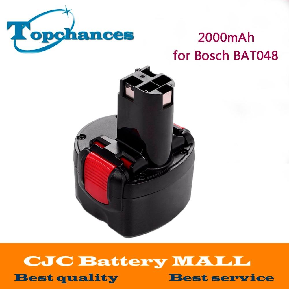 Высококачественный перезаряжаемый аккумулятор для электроинструментов 9,6 в 2000 мАч Ni-CD для Bosch BAT048 PSR 960 2 607 335 272 32609-RT Бесплатная доставка