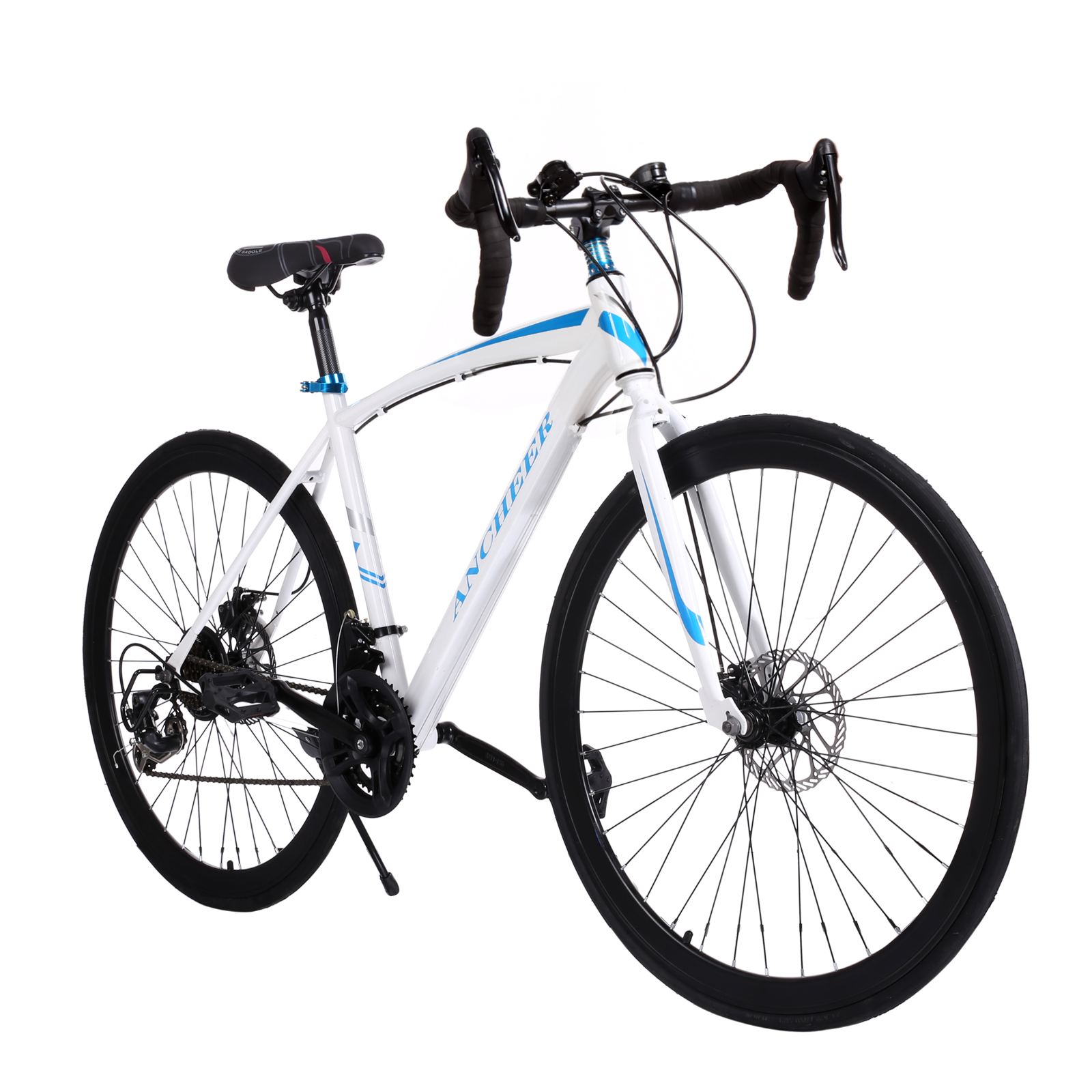 цена на ANCHEER Mountain Bike New 700C Aluminum Fixed Gear Road Bicycle Road Cycling Road Bike 2 Disc Brake Outdoor bike 2017 Hot sale