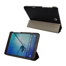 Tab s2 t710 t715 t713 t719 book smart cover case-ultra delgado elegante de la cubierta para samsung galaxy tab s2 8.0 imán de reposo automático case