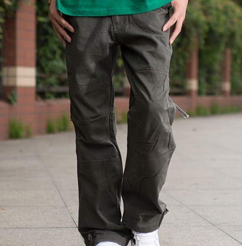 73a2a503c09ff3 Military Style Army Cargo Pants Men Multi Pocket Sweatpants Pantalones  Hombre Black Khaki Grey Army Green Plus Size XXL XXXL-in Cargo Pants from  Men s ...