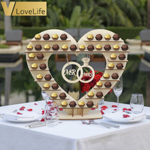 Mr Mrs Wedding Chocolate Heart Tree Ferrero Rocher Chocolate Stand Wedding Display Stand Centrepiece Candy Bar Decor