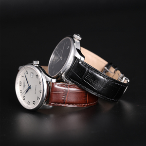 Image 5 - חזיון תעתועי להקות לצפות עור אמיתי רצועת 18mm 19mm 20mm 21mm 22mm 24mm מרופד קרוקו דפוס עבור Tissot Seiko אומגה רצועת השעון
